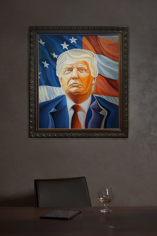 Дональд Трамп   Donald Trump   картина в интерьере     Василий Сидорин   Artmagic   Артмагия   art.vin