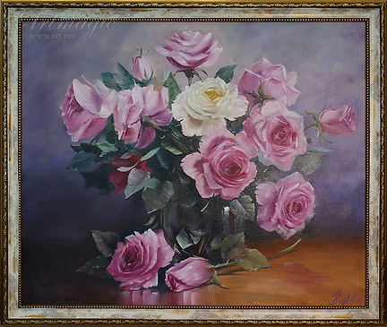 Розы в вазе | цветы | Анна Никифорова | Anna Nikiforova | Still life | Натюрморт | art.vin | Artmagic | Артмагия