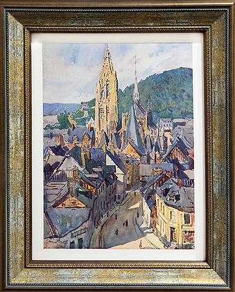Peisaj cu catedrala din Reims | Georges Plames | Городской пейзаж | art.vin | Artmagic | Артмагия