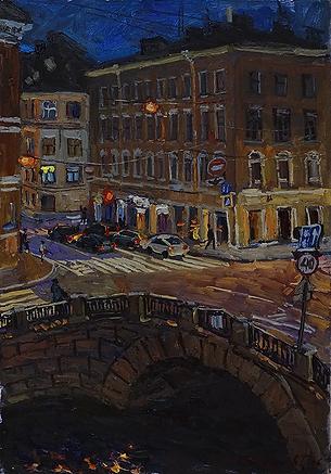 НОЧНОЙ ПЕТЕРБУРГ | Питер ночью | Дмитрий Сысоев | Dmitry Sysoev | Landscape | пейзаж | art.vin | Artmagic | Артмагия