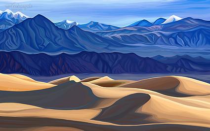 Пески |  sands | Василий Сидорин | VASILY SIDORIN | картина маслом | в багете | sidorin.info | Artmagic | art.vin
