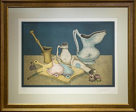 Натюрморт с палтусом | рыбы | Михаил Шемсякин | Mihail Shemyakin | Still life | Натюрморт | art.vin | Artmagic | Артмагия