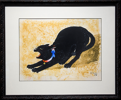 Чёрная кошка | Takahashi Shotei Hiroaki | Cat | Котики | art.vin | Artmagic | Артмагия