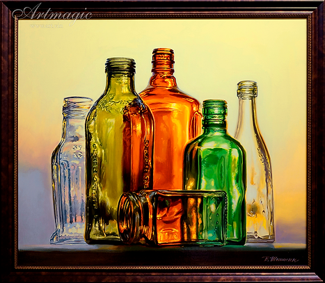 Бутылки  | Валерий Шишкин | Valerii Shishkin | Landscape | абстракция | art.vin | Artmagic | Артмагия