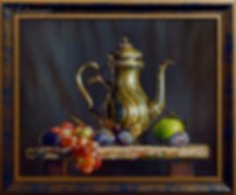 натюрморт с виноградом  | Валерий Шишкин | Valerii Shishkin | Landscape | абстракция | art.vin | Artmagic | Артмагия