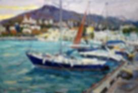 набережная в ялте | ялта | Дмитрий Сысоев | Dmitry Sysoev | Landscape | пейзаж | art.vin | Artmagic | Артмагия