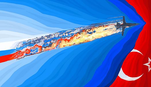Небо Сирии в огне | Василий Сидорин | Абстракция | art.vin | Artmagic | Артмагия
