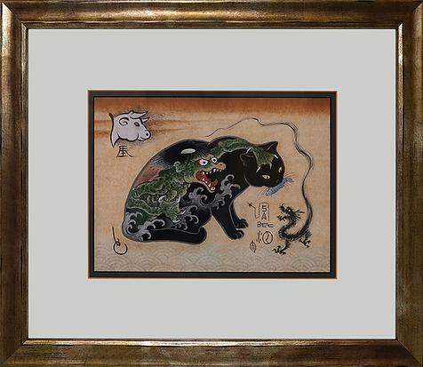 Кот с драконами | Kazuaki Kitamura Horitomo | Cat | Котики | art.vin | Artmagic | Артмагия