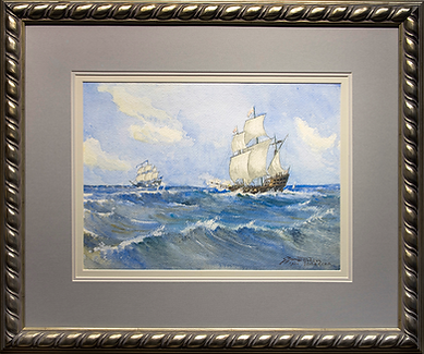 Морской пейзаж | 1932 | watercolor | S. Bames Robson | С. Бамес Робсон | seascape | marine landscape | Морской пейзаж | art.vin | Artmagic | Артмагия