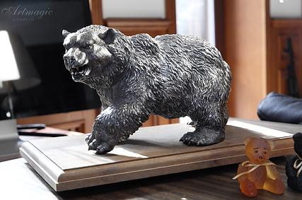 Медведь Фаберже | silver grand bear 8 | fabergè | Faberge | exclusive | Эксклюзив | Фаберже | серебрянный медведь | artmagic | art.vin | Артмагия