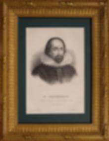 Уильям Шекспир | William Shakespeare | Литография | Lithograph | Portrait | портрет | art.vin | Artmagic | Артмагия