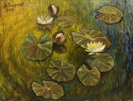 нимфеи | лилии  | купить пейзаж | Федор Парфенов | купить картину в Москве | купить пейзаж | галерея Москвы | Артмагия | Artmagic | artvin