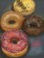 Пончики картина | картина с пончиками | Ирина Сергеева | Irina Sergeeva | Still life | Натюрморт | art.vin | Artmagic | Артмагия