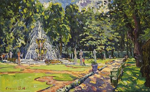 в летнем саду | городские пейзажи | Дмитрий Сысоев | Dmitry Sysoev | Landscape | пейзаж | art.vin | Artmagic | Артмагия
