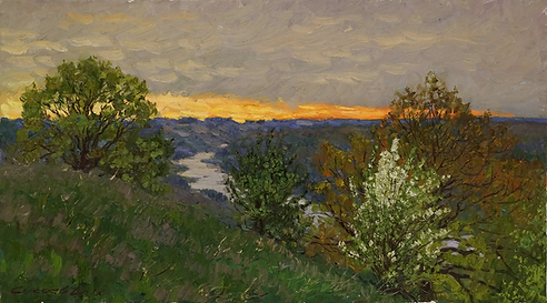 Рассвет над рекой | пейзаж рассвет | Дмитрий Сысоев | Dmitry Sysoev | Landscape | пейзаж | art.vin | Artmagic | Артмагия