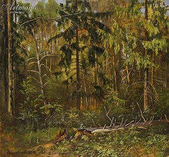 лес  | купить пейзаж | Федор Парфенов | купить картину в Москве | купить пейзаж | галерея Москвы | Артмагия | Artmagic | artvin