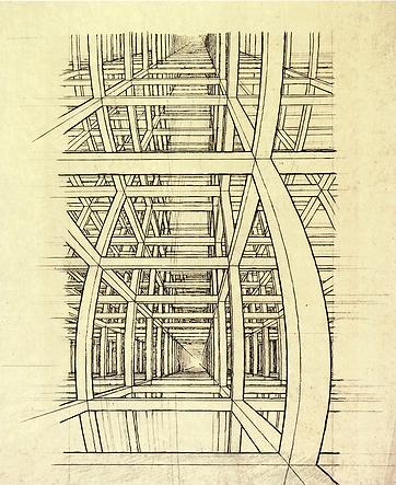 Дом лестниц | Этюд | Мауриц Эшер | M.C. Esher | art.vin | Artmagic | Артмагия