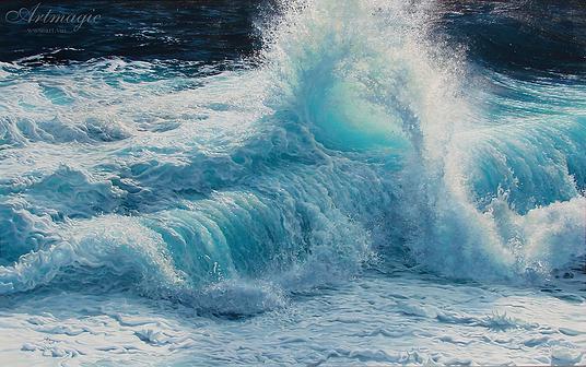 Восторг | rapture | Крестовоздвиженский | морской пейзаж | купить картину море | волны | Артмагия | Artmagic | seascape | vave | art.vin