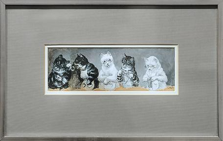 Granny's Knitting Circle | Louis Wain | Cat | Котики | art.vin | Artmagic | Артмагия