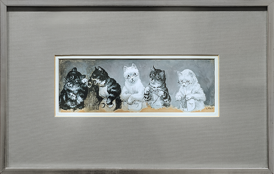 Granny's Knitting Circle | Louis Wain | Cat | Котики | art.vin | Artmagic | Артмагия