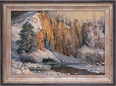 Зима в горах | картина с пейзажем | Алексей Петриков | Alex Petrikov | Landscape | пейзаж | природа | art.vin | Artmagic | Артмагия