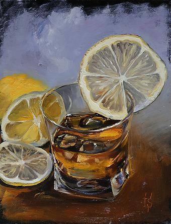 ирина сергеева | висики с лимоном | натюрморт | купить картину в москве | купить натюрморт в москве | артмагия | art.vin