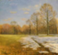 последний снег | весна  | купить пейзаж | Федор Парфенов | купить картину в Москве | купить пейзаж | галерея Москвы | Артмагия | Artmagic | artvin