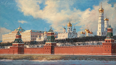 Золотые купола | Москва Кремль  | пейзаж | работы художника | кпить картину в Москве | Artmagic | Артмгия | artvin