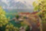 когда цветут акации | Сысоев | жасмин  | пейзаж | Дмитрий Сысоев | Dmitry Sysoev | Landscape | пейзаж | art.vin | Artmagic | Артмагия