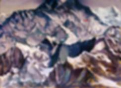 Горы | сити | Илья Балавадзе | городской пейзаж | высотки | картина маслом | Ilia Balavadze | artmagic | art.vin | Артмагия