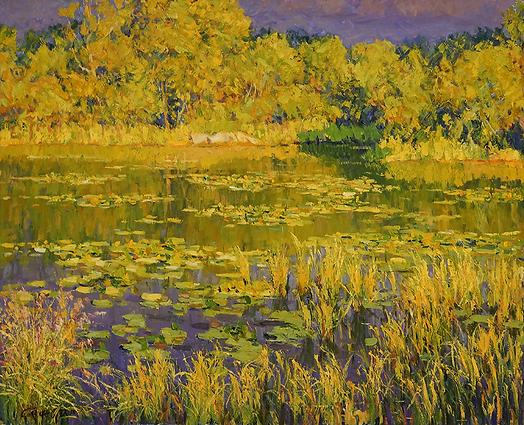 кувшинки | пейзаж импрессионизм | Дмитрий Сысоев | Dmitry Sysoev | Landscape | пейзаж | art.vin | Artmagic | Артмагия