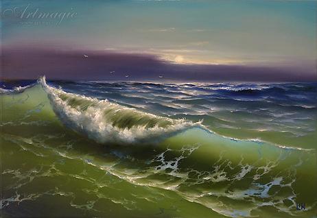 волна | Сергей Лим | художник-маринист | купить морской пейзаж | купить картину маслом | купить картину с морем | Артмагия | Artmagic | artvin