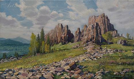 Вершина хребта | картина с пейзажем | Алексей Петриков | Alex Petrikov | Landscape | пейзаж | природа | art.vin | Artmagic | Артмагия