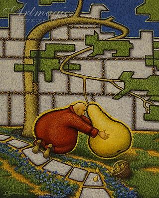 Великий садовник  | Юрий Сизоненко | Yuriy Sizonenko | необычные картины | современное искусство | купить картину в Москве | Артмагия | Artmagic | artvin