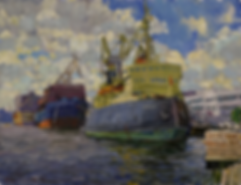 Ледокол | Питер | Дмитрий Сысоев | Dmitry Sysoev | Landscape | пейзаж | art.vin | Artmagic | Артмагия
