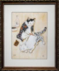 Художник | Kazuaki Kitamura Horitomo | Cat | Котики | art.vin | Artmagic | Артмагия