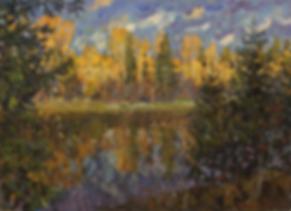 вечер на мсте | осенний пейзаж | Дмитрий Сысоев | Dmitry Sysoev | Landscape | пейзаж | art.vin | Artmagic | Артмагия
