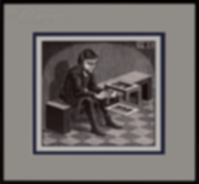 Человек с кубом   Мауриц Эшер   M.C. Esher   art.vin   Artmagic   Артмагия