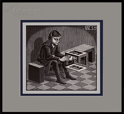 Человек с кубом | Мауриц Эшер | M.C. Esher | art.vin | Artmagic | Артмагия