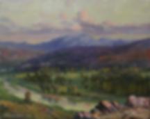 Сиреневый вечер | картина с пейзажем | Алексей Петриков | Alex Petrikov | Landscape | пейзаж | природа | art.vin | Artmagic | Артмагия