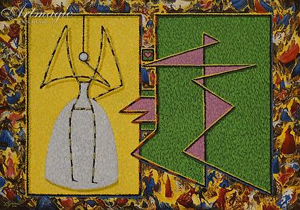 Приглашение на бал маскарад | маски | гуляния  | Юрий Сизоненко | Yuriy Sizonenko | необычные картины | современное искусство | купить картину в Москве | Артмагия | Artmagic | artvin