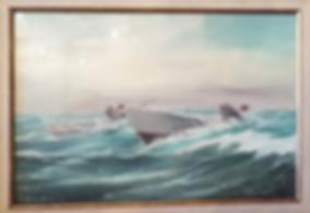 Подводные лодки | U boats | 1944 | T. Winner | Т. Виннер | seascape | marine landscape | Морской пейзаж | art.vin | Artmagic | Артмагия