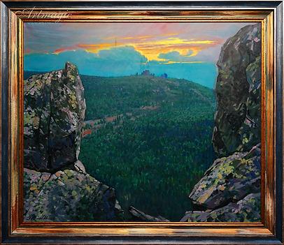 Встреча солнца | картина с пейзажем | Алексей Петриков | Alex Petrikov | Landscape | пейзаж | природа | art.vin | Artmagic | Артмагия