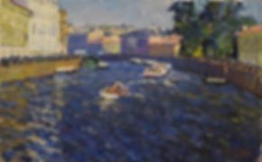 ФОНТАНКА | реки питера | Дмитрий Сысоев | Dmitry Sysoev | Landscape | пейзаж | art.vin | Artmagic | Артмагия