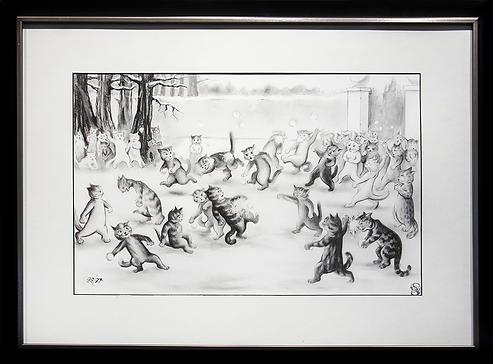 Снежки | Louis Wain | Cat | Котики | art.vin | Artmagic | Артмагия