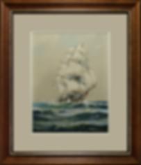 корабль | клипер | Джозеф Конрад | Макгрегор | R. Macgregor | seascape | marine landscape | Морской пейзаж | art.vin | Artmagic | Артмагия