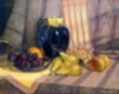 Кувшин с фруктами | натюрморт с кувшином  | картина с натюрмортом | Алексей Петриков | Alex Petrikov | Landscape | пейзаж | природа | art.vin | Artmagic | Артмагия