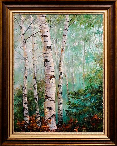 утро в лесу  | Ирина Поцелуева | купить картину маслом | пейзаж | купить пейзаж | купить картину в москве | Артмагия | Artmagic | artvin