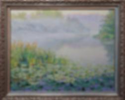 Кувшинки | Туман | Моне | Дмитрий Сысоев | Dmitry Sysoev | Landscape | пейзаж | art.vin | Artmagic | Артмагия