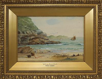 Gathering seaweed, blevedon | Percy Short | Перси Шот | 1913 | seascape | marine landscape | Морской пейзаж | art.vin | Artmagic | Артмагия